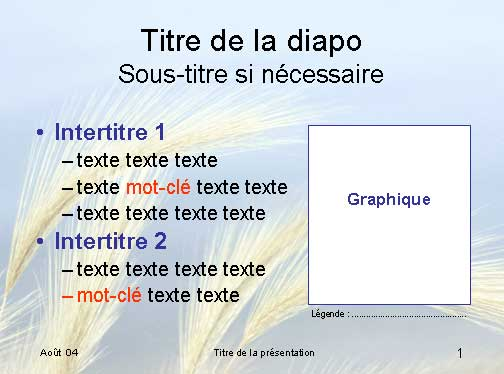 Exemple de diapositive PowerPoint